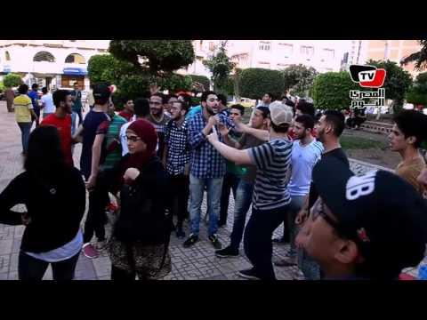 طلاب الثانوية العامة بالدقهلية يتظاهرون أمام مبنى «المحافظة» احتجاجاً على إلغاء «الديناميكا»