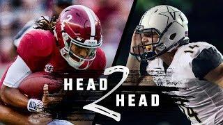 Head to Head: Alabama vs. Vanderbilt