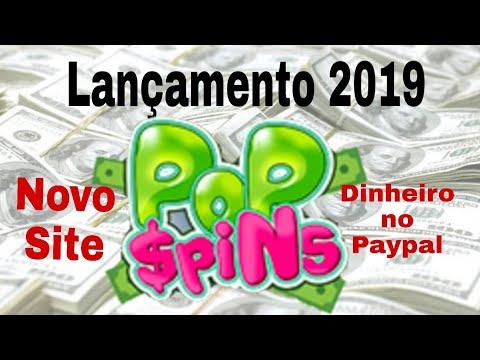 Pop Spins Lançamento 2019 novo site para ganhar dinheiro no paypal