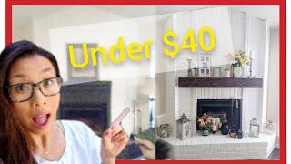 Fireplace Makeover - DIY Mantel