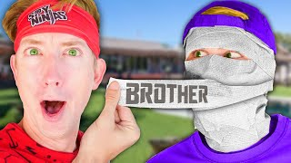 CWC BROTHER FACE REVEAL! First To Beat Giant Size Obby Game IRL Umasks Chad Wild Clay's Bro