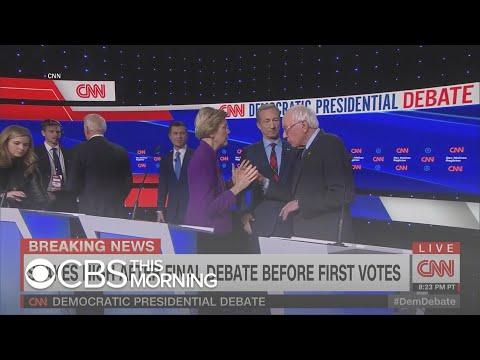 Sanders-Warren rift takes center stage at Iowa debate