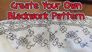 How To Create Your Own Historical Blackwork Embroidery Pattern