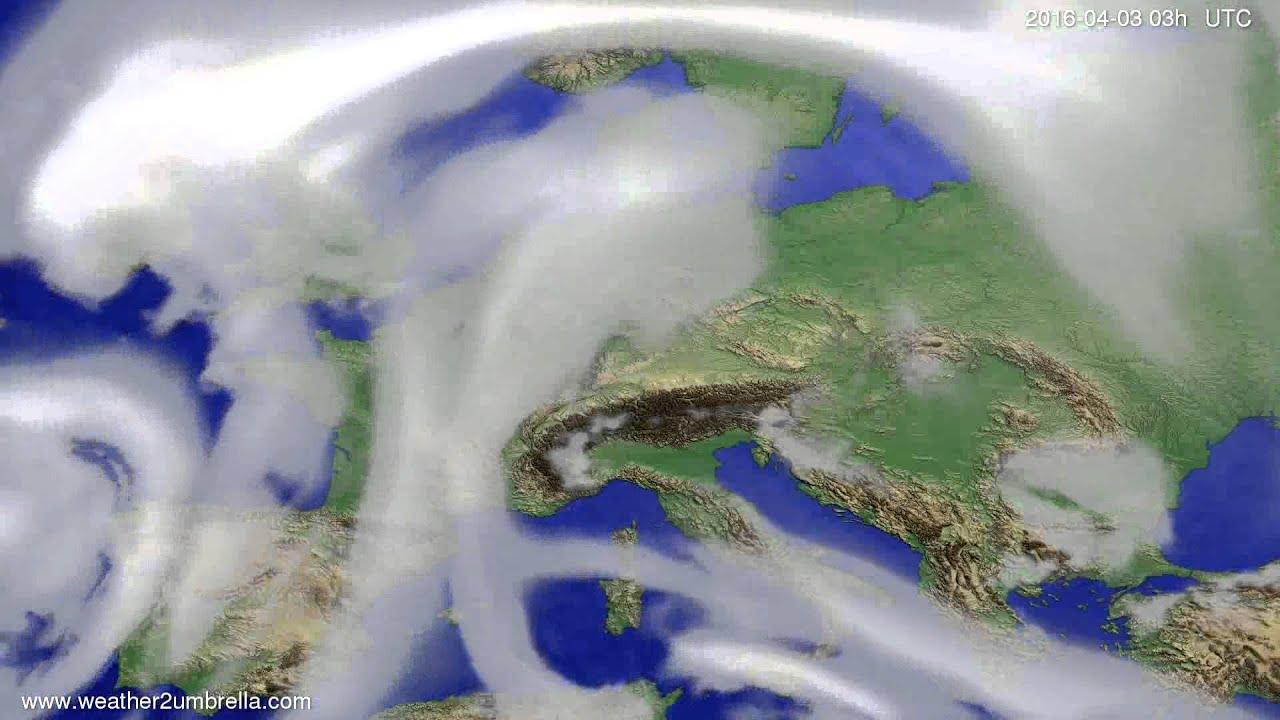 Cloud forecast Europe 2016-03-31