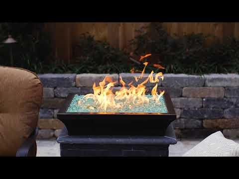 Lavelle Square Low-Rise Column Fire Bowl - Oil Rubbed Bronze