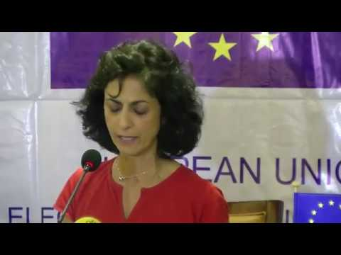 EU EOM Liberia Chief Observer Maria Arena presents the preliminary report in Monrovia - part 1