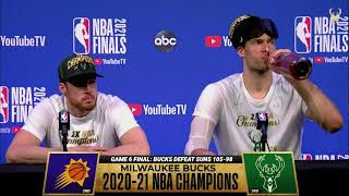 Pat Connaughton and Brook Lopez NBA Finals Game Six Media Availability | 7.20.21
