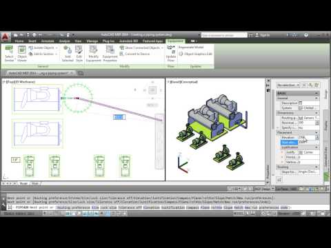 AutoCAD MEP 2014: Creating a Piping System
