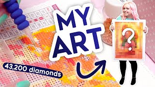 More Addicting Than I Thought...MY OWN ART On A Diamond Painting!