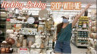 New At Hobby Lobby Shop With Me!  Fall + Christmas?!?! + Home Decor!