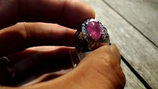 Natural Padparadscha Sapprire NH 5.27 cts Cabochon Luster Night & Day