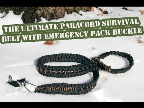Make A DIY Paracord Belt With Survival Pack Belt Buckle