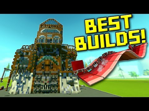 Wavy Ornithopter, ScrapBeards Fortress... and More of YOUR BEST BUILDS! - Scrap Mechanic Gameplay