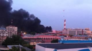 Пожар Москва ул. Талалихина 41