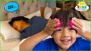 Don't Wake Daddy Challenge In Real Life Pretend Play Fun!!!