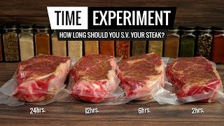 Sous Vide Steak TIME EXPERIMENT   How Long Should You Cook Your STEAK?