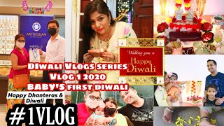 New Born Girl's FIRST Diwali 2020 ,Dhanteras GOLD Jewellery Shopping Singapore Vlog2 SUPERPRINCESSJO