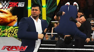 WWE 2K16: Shane & Vince RAW Segment - Undertaker Returns