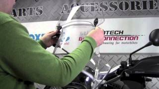 MRA X-creen Touring Bolt-on Windscreen Extension On BMW R1200GS