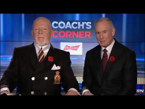Don Cherry's Full Poppy Rant with Special Poppy Feature