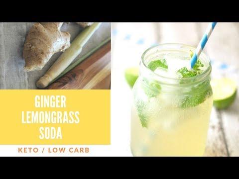 Ginger Lemongrass Soda Water Mixer / Cocktail Syrup - Keto Cordial