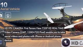 Holy Stone HS110 FPV RC Drone with Camera 720P HD Live Video WiFi 2.4GHz 4CH 6-Axis