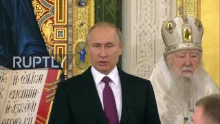 Russia: Putin and Patriarch Kirill attend consecration of new church in Moscow