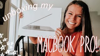 "unboxing my 13"" macbook pro w/ touchbar!"
