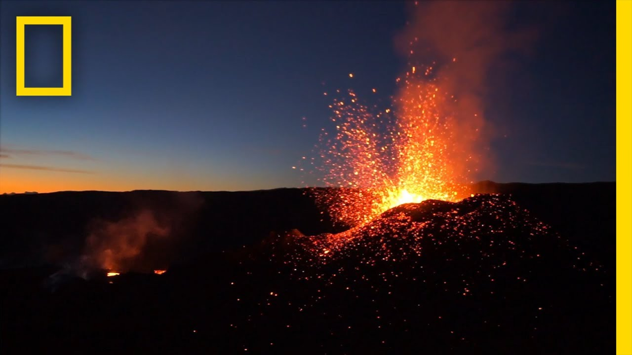 Soar Over a Red Hot Volcanic Eruption | National Geographic thumbnail