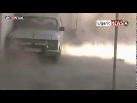 الجيش الحر يدمر دبابة للجيش النظامي