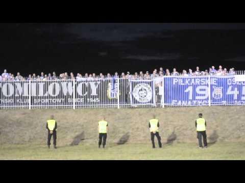 Doping kibiców Stomilu Olsztyn w Suwałkach