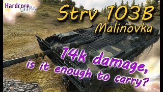 WORLD OF TANKS: Strv 103B on Malinovka, 14038 damage, what else to say? WoT