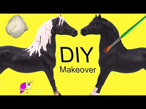 Makeover ! New Clay Mane DIY Custom Breyer Horse Painting Craft Video