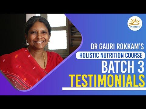 Holistic Nutrition- Certification Course  Testimonials of Batch 3   Dr ...