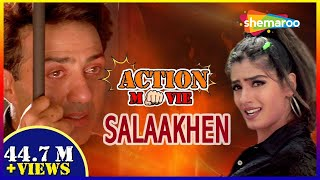 Salaakhen {HD}   Hindi Full Movie   Sunny Deol   Raveena Tandon   Bollywood Action Movie