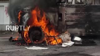 Venezuela: Police dodge Molotov cocktails as clashes break out in San Cristobal