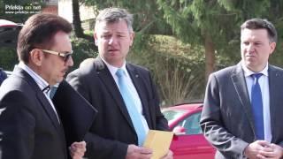 Minister za infrastrukturo dr. Peter Gašperšič na Gibini
