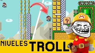 ME TROLLEAN HASTA POR PENSAR MUCHO 😡!!! - NIVELES TROLL #10 | Super Mario Maker - ZetaSSJ