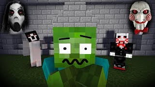 Monster School : Scary Slendrina & The Saw | Minecraft Animations
