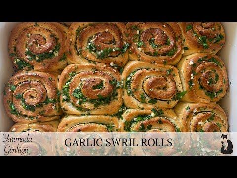 , title : 'GARLIC SWRIL ROLLS (SARIMSAKLI EKMEK)