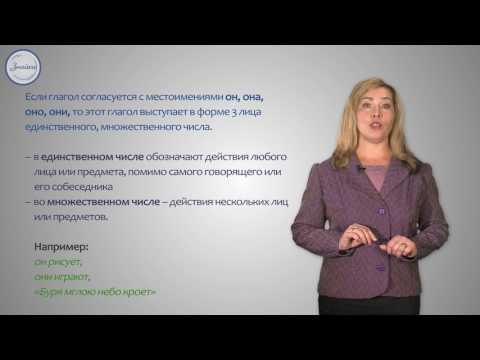 Понятие о спряжении глагола. Личные окончания глаголов 1 и 2 спряжения