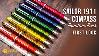 Sailor 1911 Compass Fountain Pens - First Look