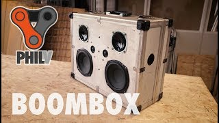 Portable Bluetooth Boombox Powered By Drill Batteries