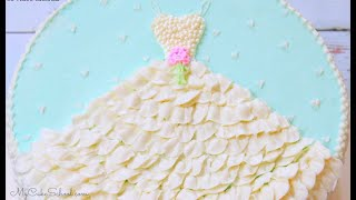 Wedding Shower Cake Design With Buttercream Dress!