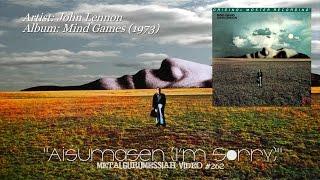 Aisumasen (I'm Sorry) - John Lennon (1973) Remastered Audio 1080p Video ~MetalGuruMessiah~