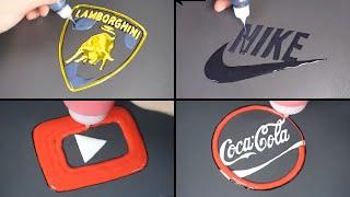 Number.1 Logo Pancake art - Nike, YouTube, Lamborghini,  Coca Cola