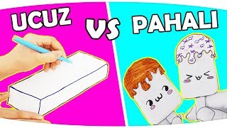 OKULA DÖNÜŞ UCUZ VS PAHALI 3 Marker Challenge | DIY | Fenomen Tv Okula Dönüş