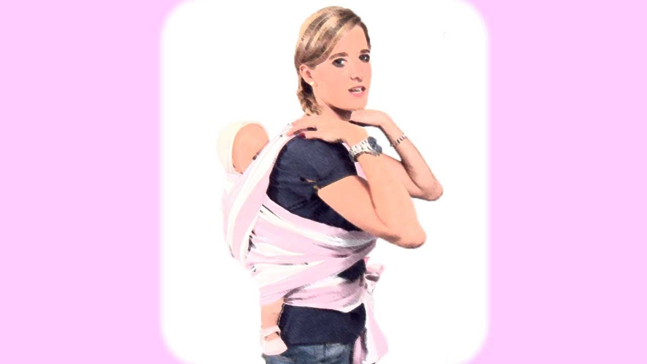 Porteo. Llevar al bebé en un fular con nudo delante