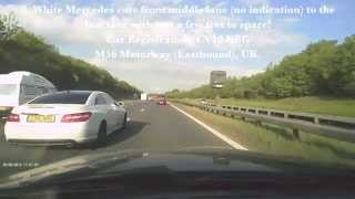 preview picture of video 'Caught on Dashcam - Dangerous Driver on M56 Motorway (UK)'
