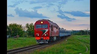 Тепловоз ТЭП70БС-113 с поездом № 614 Могилёв - Солигорск.